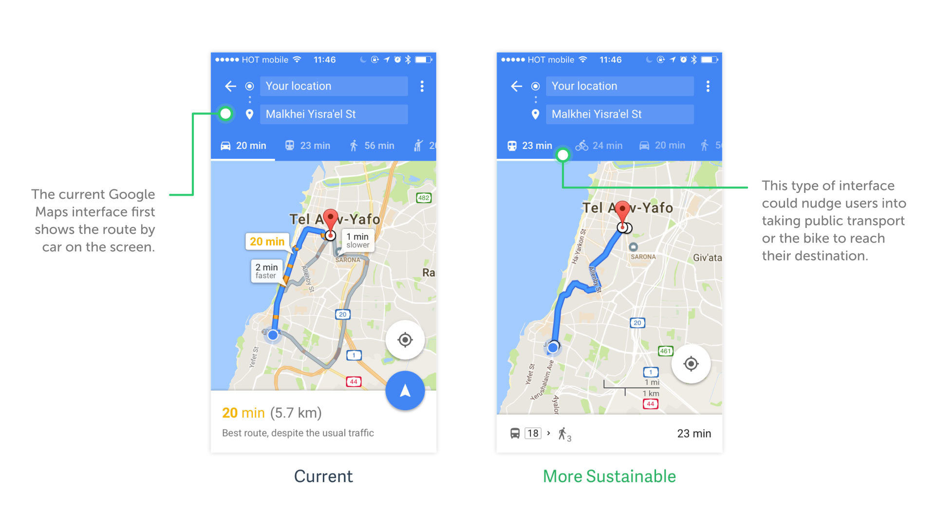 Artiom Dashinsky's redesign for Google Maps
