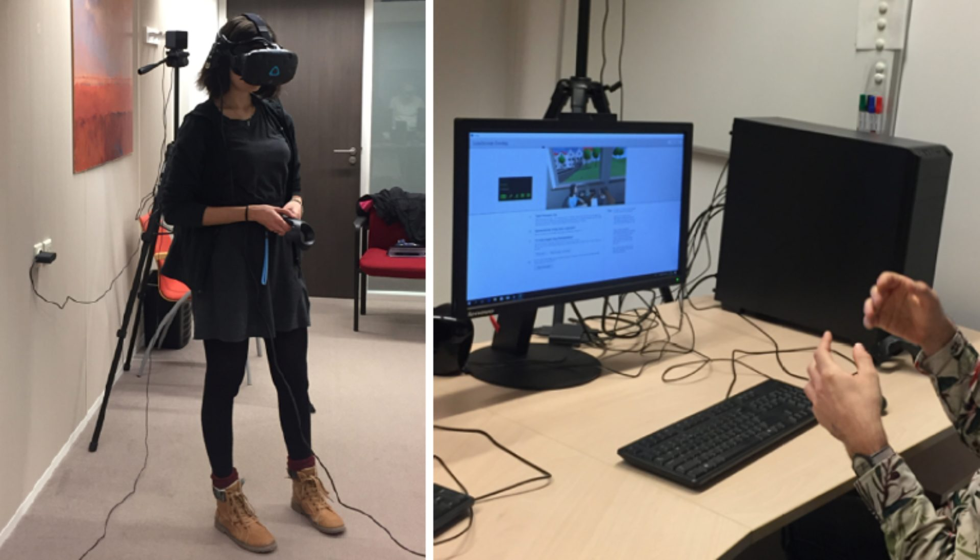 Cognitive behavioural therapy through a VR environment